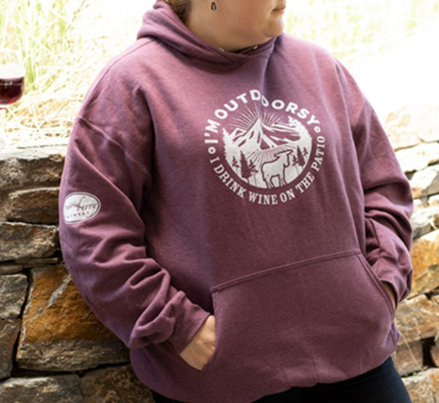 Prairie Berry Hooded Sweatshirt: I'm Outdoorsy
