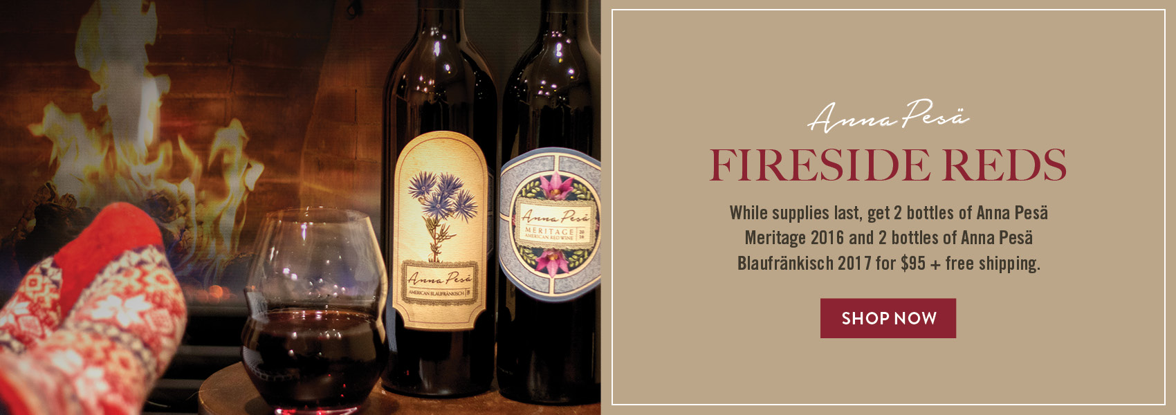 Get four bottles of Anna Pesa red wine and free shipping for just $95
