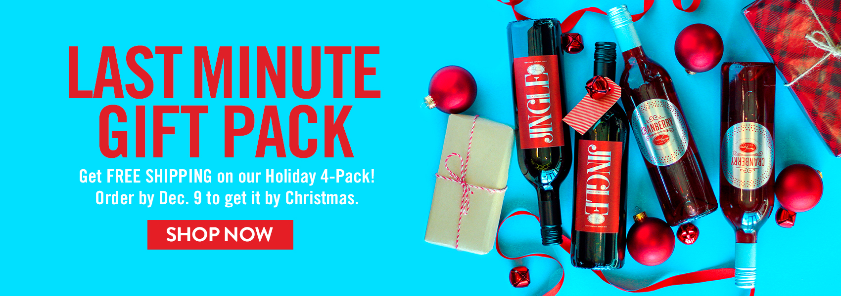 Get two bottles each of Jingle and Cranberry plus FREE shipping.