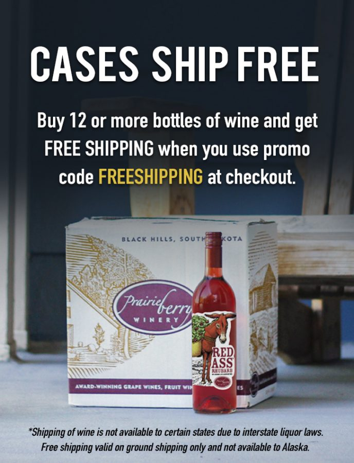 Buy 12 or more bottles of wine and GET FREE SHIPPING when you use promo code FREESHIPPING at checkout. Shipping of wine is not available to certain states due to interstate liquor laws. Free shipping offer is valid on ground shipping only and is not available in Alaska.